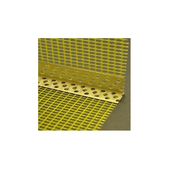 Narożnik PCV z siatką 10cm x 10 cm 2,5m  (25 szt.)