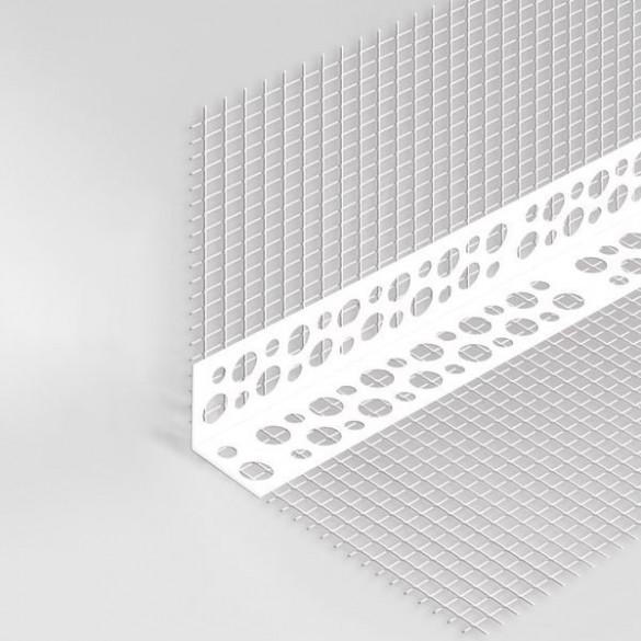 Narożnik PCV z siatką 7cm x 7 cm 2,5m  (25 szt.)