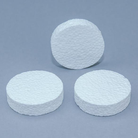 Zaślepki styropianowe białe – krążek ZB (100 szt.)