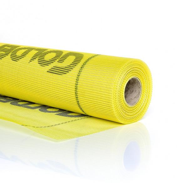 Siatka z włókna szklanego 1 x 50 mb, 150 g/m2 żółta PLUS+