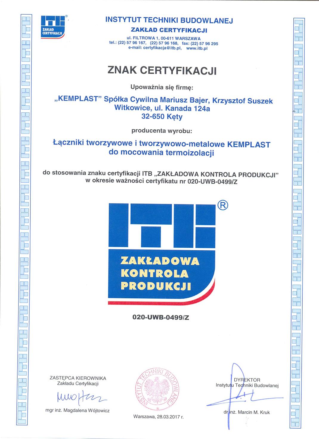 Znak certyfikacji